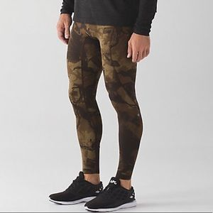 Lululemon men's tight stuff tights running camo L